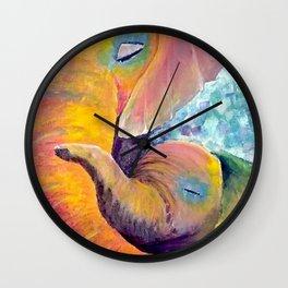 Mama and Baby Elephant Wall Clock