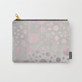 Pale Pink Golden Dots Pattern on Old Metal Texture Carry-All Pouch
