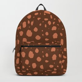 Painterly Dots in Brown + Terracotta Backpack
