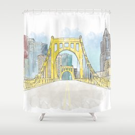 Roberto Clemente Bridge Shower Curtain