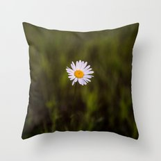 I've been longing for, daisies to push through the floor Throw Pillow