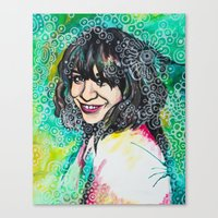 karen hallion Canvas Prints featuring Karen by Casey Arden Art