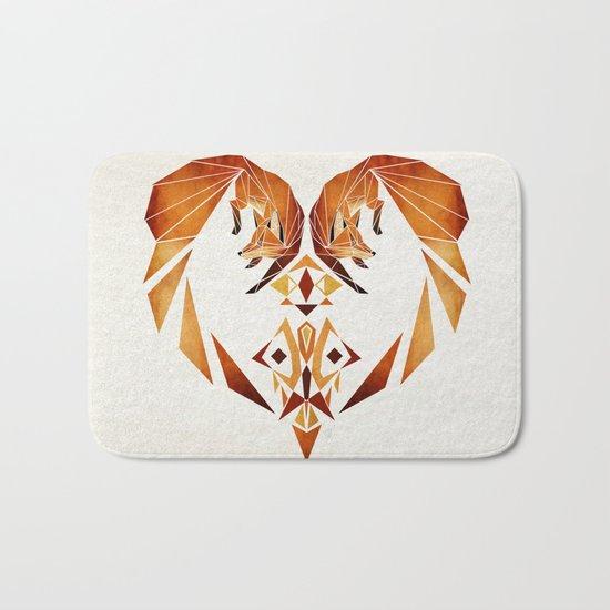 foxes heart  Bath Mat
