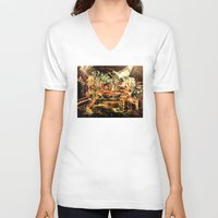 nirvana V-neck T-shirts featuring Nirvana by 2700art