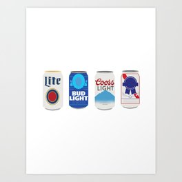 Beer Cans Art Print