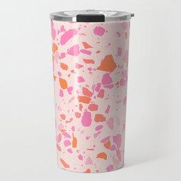 Terrazzo paper - pink Travel Mug