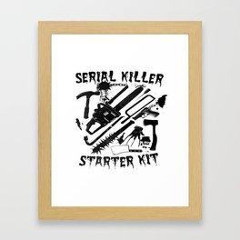 SERIAL KILLER STARTER KIT. Framed Art Print