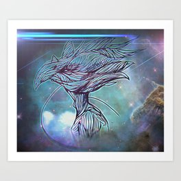 Fly Bird Art Print