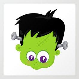 Cute Frankenstein Monster Art Print