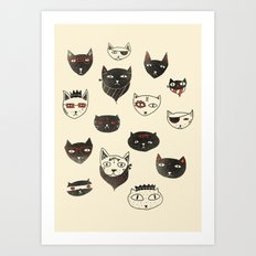 My local cattery Art Print