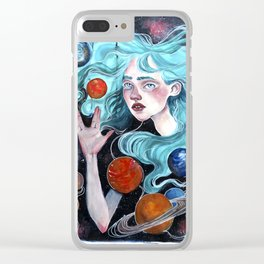 """""""hello universe"""" Clear iPhone Case"""