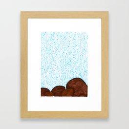 Siderastrea glynni Coral Framed Art Print