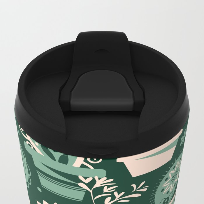 Paisley succulents Metal Travel Mug