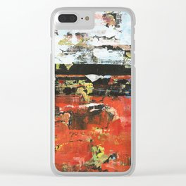 Jacksonville Orange Abstract Painting Clear iPhone Case