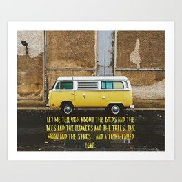 Birds and Bees Art Print
