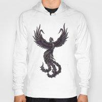 phoenix Hoodies featuring Phoenix by Texnotropio
