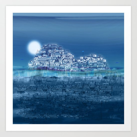The Emerging Island II / San Borondon 2016 Art Print