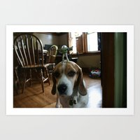 buzz lightyear Art Prints featuring Bruno and Mini Buzz Lightyear by Bruno The Beagle