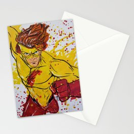 Kid Flash Melted Crayon Painting Stationery Cards