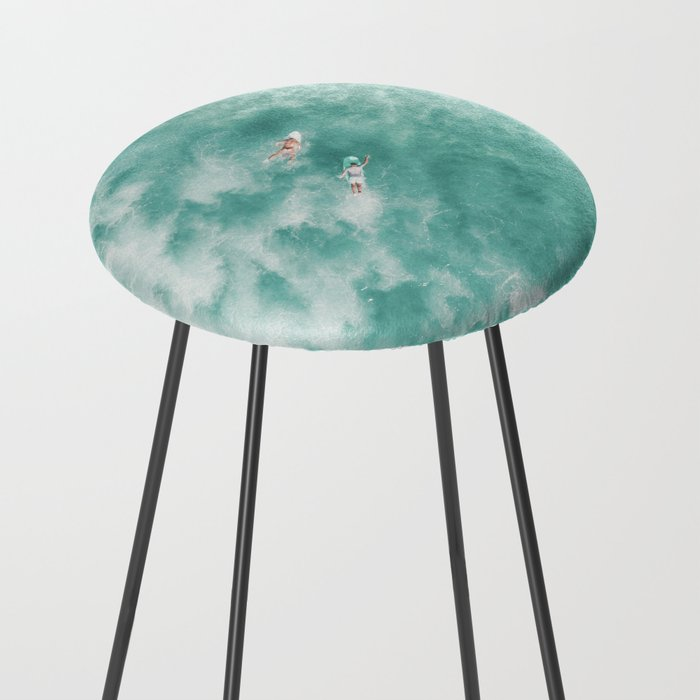 Surfing in the Ocean Counter Stool