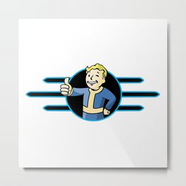 Fallout 4 Vault Boy Thumbs Up Metal Print