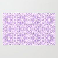 floral pattern Area & Throw Rugs featuring Lavender Floral Pattern by 2sweet4words Designs