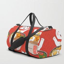 Liter of Ramen. Japanese soup and Manekineko cat. Duffle Bag