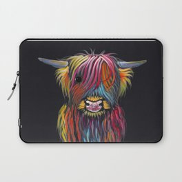 Scottish Highland Cow ' BRAVEHEART ' by Shirley MacArthur Laptop Sleeve