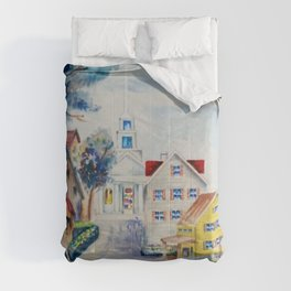 Dreams of New England on a Sun-drenched Summer's Day Comforters