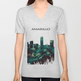 Amarillo Skyline Unisex V-Neck