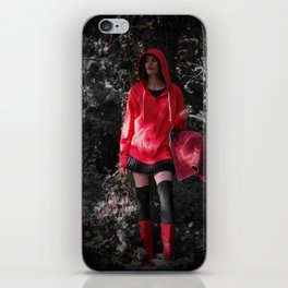 red in the hoodie iPhone Skin