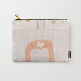 Hand Heart Carry-All Pouch