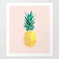 pinapple Art Prints featuring Finapple by 83 Oranges™