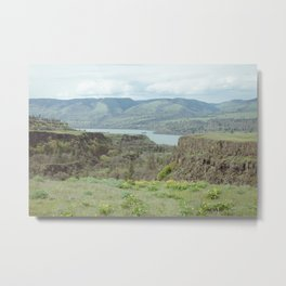 Tom McCall Preserve Looking Out at The Columbia River Gorge Metal Print