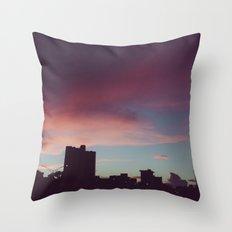 Painted Sunset Sky - Hawaii Throw Pillow