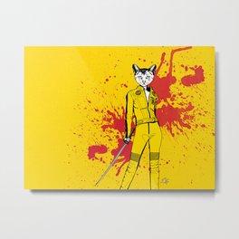 The Cat Bride Metal Print