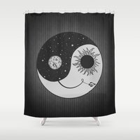 moonrise Shower Curtains featuring Moonrise by Daniac Design