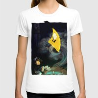 bill cipher T-shirts featuring Gravity Falls- Dipper Pines And Bill Cipher by merrigel