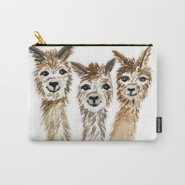 Hello There Alpacas! - animal art Carry-All Pouch