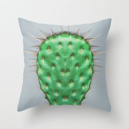 Prickly Pear Cactus Pad Throw Pillow