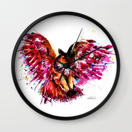 Flying Owl Wall Clock