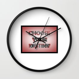 3D RED SCRATCHED TEXT Wall Clock