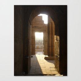 Temple at Dawn Canvas Print