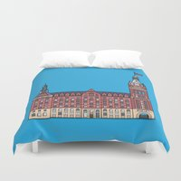 milwaukee Duvet Covers featuring Milwaukee City Hall by Tom Johnson
