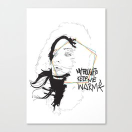 MY THOUGHTS KEEP ME WARM Canvas Print