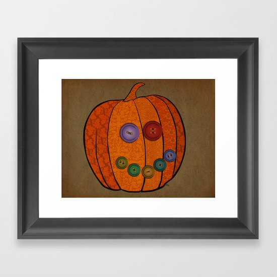 Patterned pumpkin  Framed Art Print