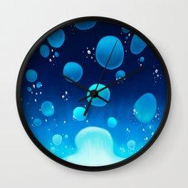 Lava Lamp Blue Wall Clock