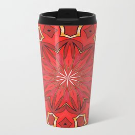 Shades of Red Bold Kaleidoscope Pattern Travel Mug