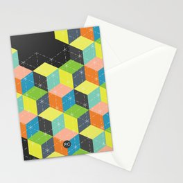 Island of Cubes Stationery Cards
