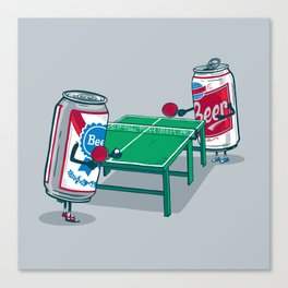 Beer Pong Canvas Print